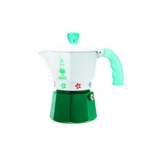 Кавоварка мока Bialetti Moka Express Artisti на 3 чашки, зелена