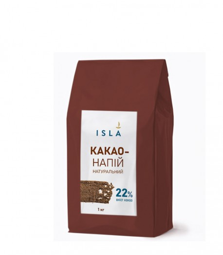 Какао-напій ISLA з сухим молоком та цукром, 1 кг