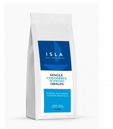 Кава ISLA в зернах, моносорт Колумбія Supremo Cauca, 1 кг