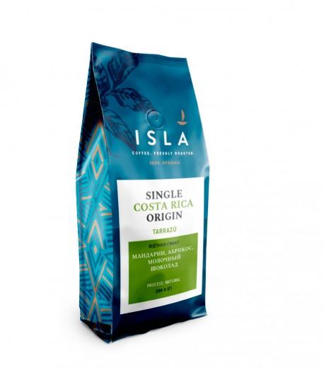 Кава ISLA в зернах, моносорт Коста-Ріка Tarrazu, natural, 200 г