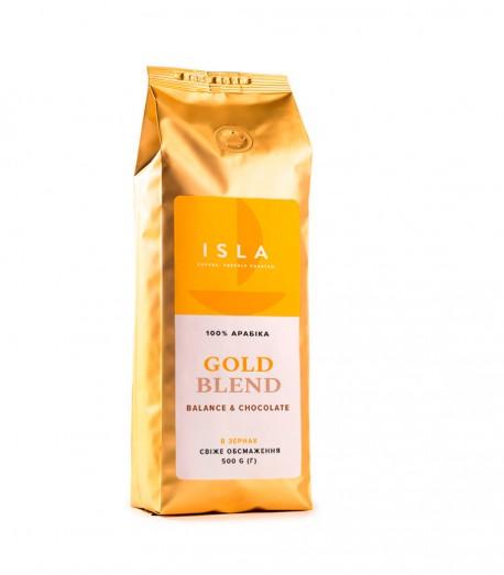 Кава ISLA GOLD BLEND в зернах, 500 г (4820189320074)