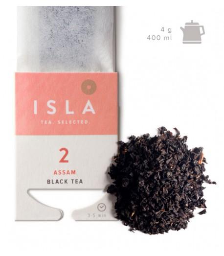 №2 Чай Isla чорний Асам в фільтр-пакеті на чайник, 4 г х 10 шт.