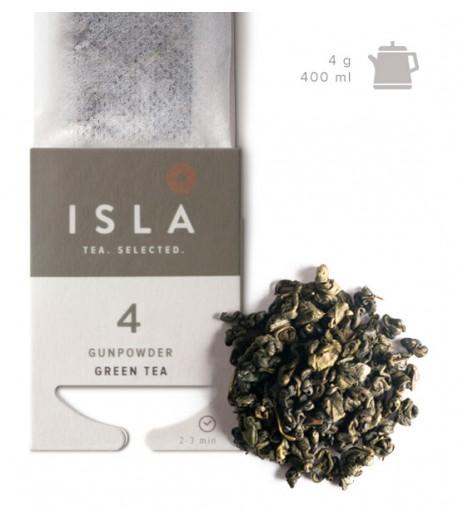 №4 Чай Isla зелений Gunpowder в фільтр-пакеті на чайник, 4 г х 10 шт.
