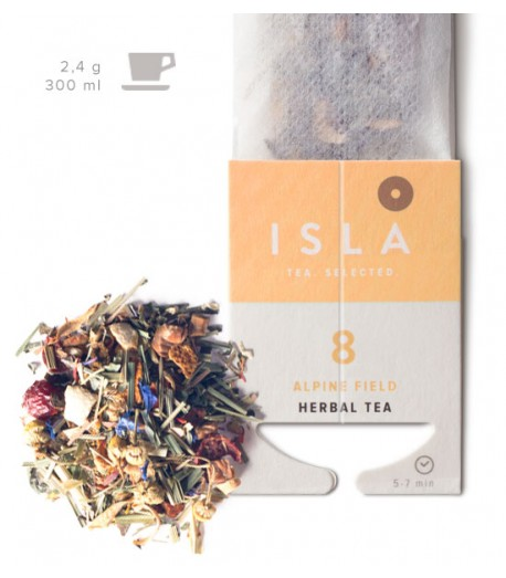 №8 Чай Isla трав'яний «Альпійський луг» в фільтр-пакеті на чашку, 2,4 г х 10 шт.