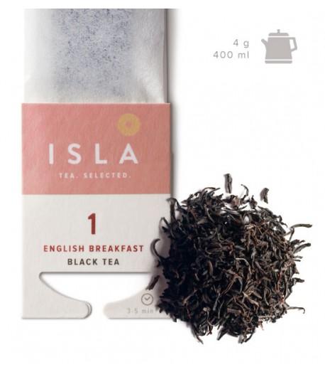 №1 Чай Isla чорний «Англійський сніданок» в фільтр-пакеті на чайник, 4 г х 10 шт.