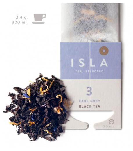 №3 Чай Isla чорний з бергамотом в фільтр-пакеті на чашку, 2,4 г х 10 шт.