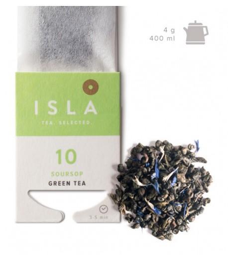 №10 Чай Isla зелений з саусепом в фільтр-пакеті на чайник, 4 г х 10 шт.